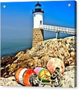 Buoys At The Headlight Acrylic Print