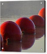 Buoys In Fog Acrylic Print