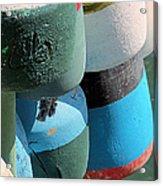 Buoys Tied Up Acrylic Print