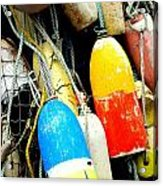 Buoys Acrylic Print by Mamie Gunning