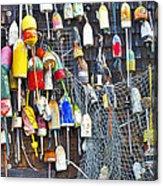 Buoys On Wall - Cape Neddick - Maine Acrylic Print