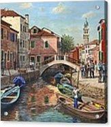 Burano Canal Venice Acrylic Print
