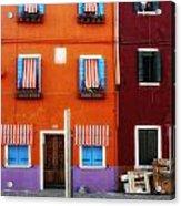 Burano Colors Acrylic Print