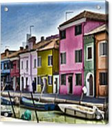 Burano Italy - Colorful Homes Acrylic Print