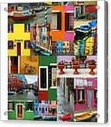 Burano Italy Poster Acrylic Print