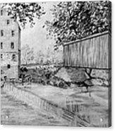 Burfordsville Bridge And Bollinger Mill Acrylic Print