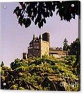 Burg Katze Castle On The Rhine Acrylic Print