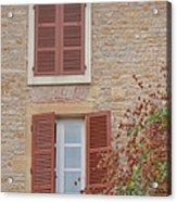 Rust Coloured Shutters Acrylic Print