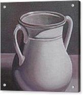 Burgundy Amphora Acrylic Print