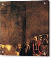 Burial Of St Lucy Acrylic Print by Caravaggio
