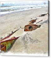 Buried Treasure - Shipwreck On The Outer Banks II Acrylic Print by Dan Carmichael