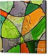 Burlap Three Acrylic Print by Juan Molina