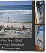 Burleigh Beach 220909 Acrylic Print by Selena Boron