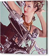 Burlesque Biker -portrait Acrylic Print