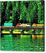 Burlington Northern Acrylic Print