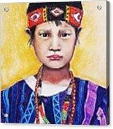 Burma Girl Acrylic Print