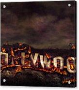 Burn This City Acrylic Print by Anthony Citro