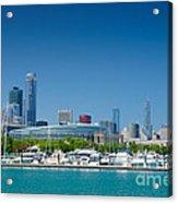 Burnham Harbor And The Chicago Skyline Acrylic Print by Kristopher Kettner