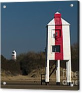Burnham-on-sea Lighthouses Acrylic Print
