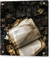 Burning Books Acrylic Print