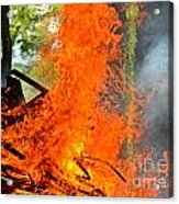 Burning Brush Acrylic Print