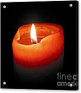 Burning Candle Acrylic Print by Elena Elisseeva