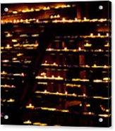Burning Candles Acrylic Print by Viacheslav Savitskiy