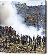 Burning Contraband Goods, Ethiopia Acrylic Print
