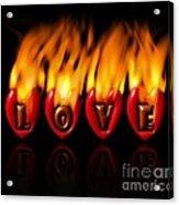 Burning Love  Brennende Liebe  Acrylic Print