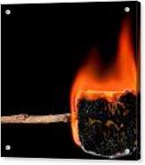Burning Marshmallow On A Stick Acrylic Print