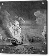 Burning Of The 'prudent' At  Louisbourg Acrylic Print