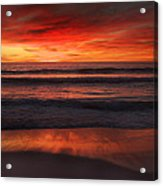 Burning Red Sunset Acrylic Print