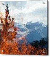 Burning The Winter Blues Away Acrylic Print