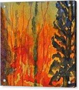 Burning Acrylic Print