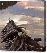 Burnt Island Lake Sunset Acrylic Print by Chris Hill