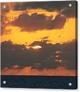 Burnt Orange Sky Acrylic Print