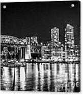 Burrard Bridge At Night Acrylic Print