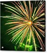 4th Of July Fireworks 6 Acrylic Print by Howard Tenke