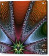 Bursting Star Nova Fractal Acrylic Print