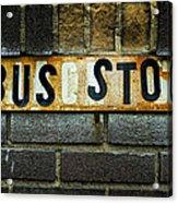 Bus Stop Acrylic Print