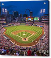 Busch Stadium St. Louis Cardinals Night Game Acrylic Print