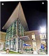 Business Building At Night Acrylic Print