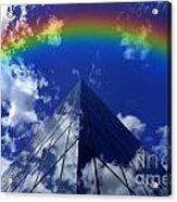 Business Rainbow And Rays Of Light Acrylic Print