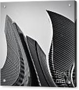 Business Skyscrapers Abstract Conceptual Architecture Acrylic Print by Michal Bednarek