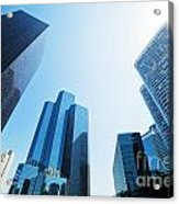 Business Skyscrapers Acrylic Print by Michal Bednarek