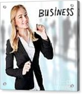 Business Woman In The Office Acrylic Print