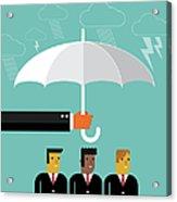 Businessmen Protection Acrylic Print