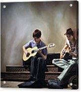 Buskers Acrylic Print