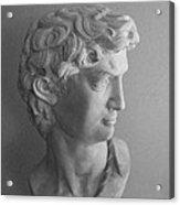 Bust Of Michaelangelo's David Acrylic Print