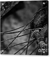 Busted Rusted Villiers Motorcycle Wheel Acrylic Print
